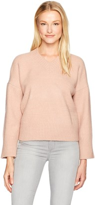 Lucca Couture Women's V Neck Drop Shoulder Sweater
