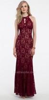Camille La Vie Cleo Collar Lace Prom Dress