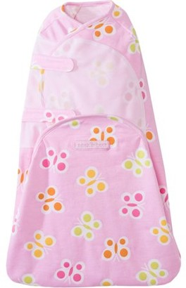 Halo SwaddleSure One-Piece Swaddle, 100% Cotton, Elephant Print, Newborn
