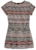 Aqua Girls' Ponte Knit Tweed Romper , Big Kid - 100% Exclusive