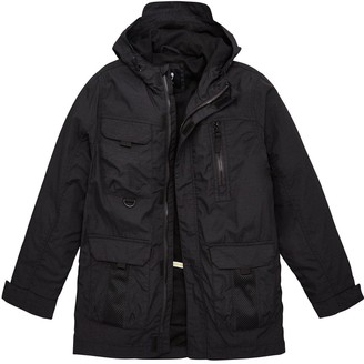 Very Boys Hooded Utility Lightweight Jacket - Black