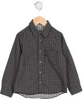 Petit Bateau Boys' Collared Plaid Shirt