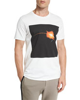 Public School Galaxy-Print Short-Sleeve T-Shirt