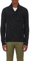 Barneys New York MEN'S CASHMERE DONEGAL-EFFECT SHAWL SWEATER