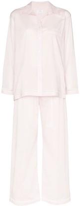 POUR LES FEMMES Lawn long-sleeved pyjama set