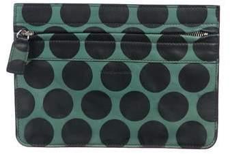 Marc Jacobs Polka Dot Leather Zip Clutch