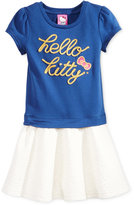 Hello Kitty Little Girls' Embroidered Dress