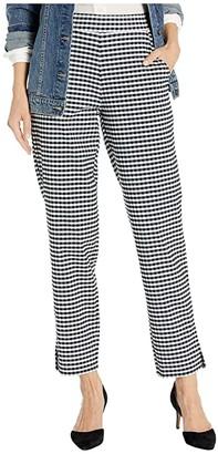 Hue Small Plaid Temp Tech Trouser Leggings (Black/Gingham) Women's Casual Pants