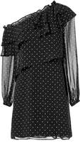 Exclusive for Intermix Juliette One Shoulder Ruffle Front Mini Dress