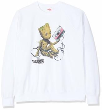 Marvel Women's Guardians of The Galaxy Vol2 Groot Tape Sweatshirt
