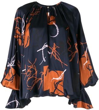 Roksanda bell sleeved blouse