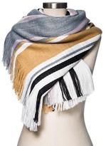 Merona Women's Blanket Scarf Neutral Plaid