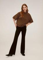 MANGO Striped T-shirt black - S - Women