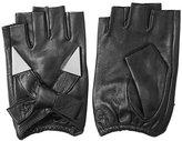 Karl Lagerfeld Fingerless Leather Gloves with Embellishment