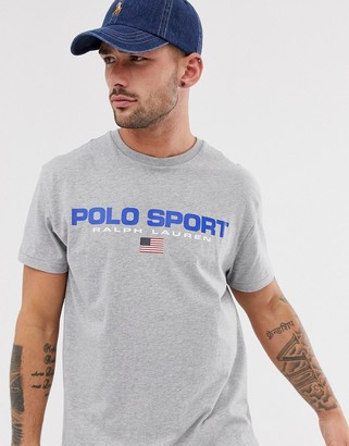 Polo Ralph Lauren Capsule large logo t-shirt in gray marl