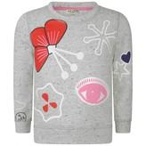 Kenzo KidsGirls Speckled Grey Symbols Print Sweater