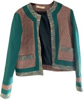 Sessun Green Cotton Jacket for Women