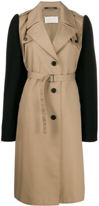 Maison Margiela Colour Block Belted Trench Coat
