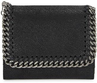 Stella McCartney Falabella black faux suede wallet