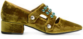 Toga Pulla embellished velvet loafers - women - Leather/Velvet - 36