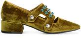 Toga Pulla embellished velvet loafers