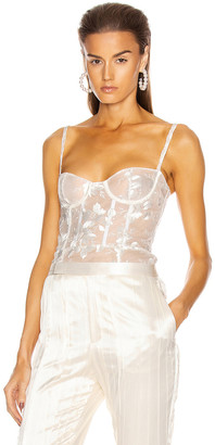 Brock Collection Quip Bustier Top in White | FWRD