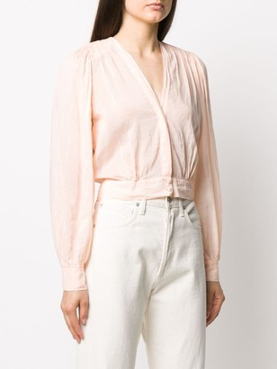 Forte Forte cropped v-neck blouse
