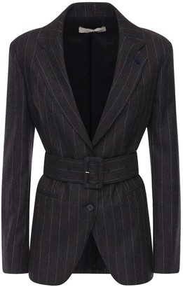 Lardini Omar Pinstripe Wool Blend Blazer