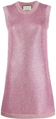 Gucci crystal-embellished knitted dress