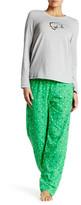 Hue Green Kitty Sequin PJ Set