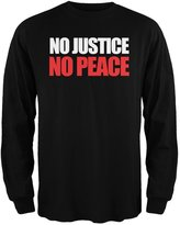 Tee's Plus No Justice No Peace Adult Long Sleeve T-Shirt