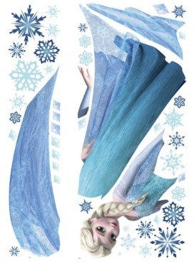 York Wall Coverings York Wallcoverings Frozen Elsa Peel and Stick Giant Wall Decals