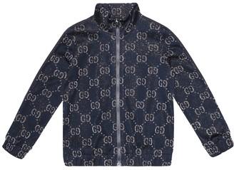 Gucci Kids GG cotton-blend track jacket