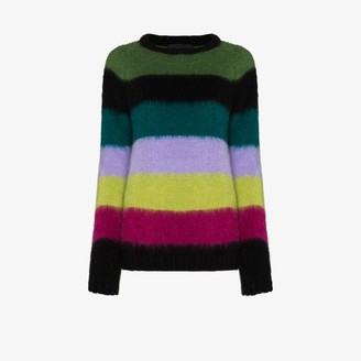 AGR Brushed Stripe Knit Sweater