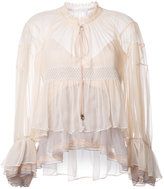 Chloé colour block tiered blouse