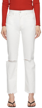Moussy White Wagoner Straight Jeans