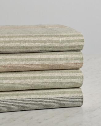 Belle Epoque Heathered Stripe Flannel Sheet Set