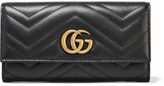 Gucci Gg Marmont Quilted Leather Wallet - Black
