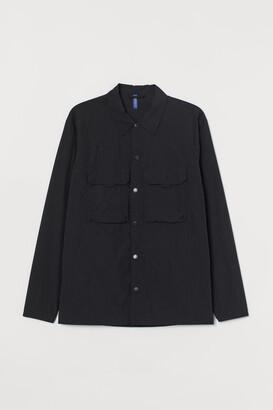 H&M Nylon Shirt Jacket - Black
