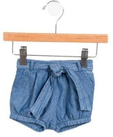 Chloé Girls' Chambray Belted Shorts