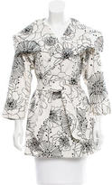 Anna Sui Two-Tone Floral Jacket