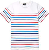 A.P.C. Slim-fit Striped Cotton-jersey T-shirt - White