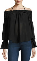 Buffalo David Bitton Tie Front Off The Shoulder Top
