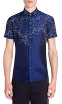 Emporio Armani Printed Mulberry Silk Blend Shirt