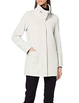 Tom Tailor Women's Sweatmantel in Einer schlichten A-Linie Jacket, (Marble Beige Melange 10396), M