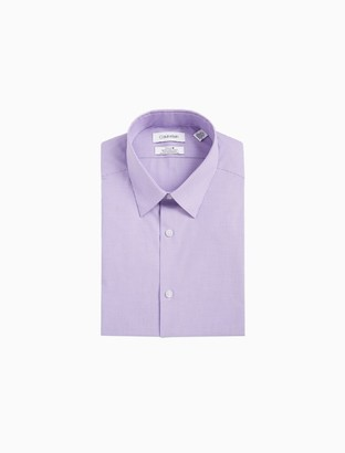 Calvin Klein Slim Fit Vertical Stripe Non-Iron Performance Dress Shirt