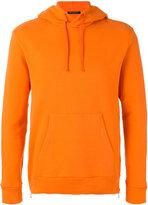 Balmain zip detail hoodie