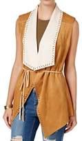 Jessica Simpson Women's Plus Size Teegan Faux Suede Vest