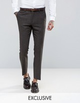 Heart & Dagger Slim Suit Trousers In Herringbone