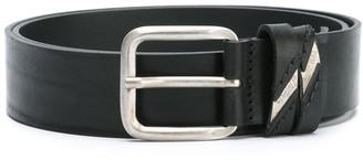 Diesel Metal Logo Embossed Belt